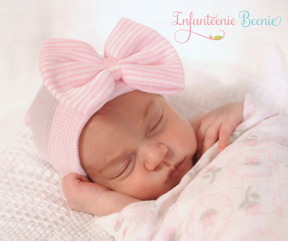 Newborn Beenie - Bow
