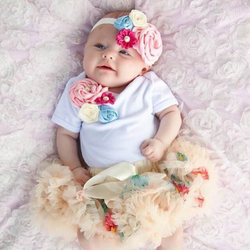 Baby Love Flowers Tutu Set