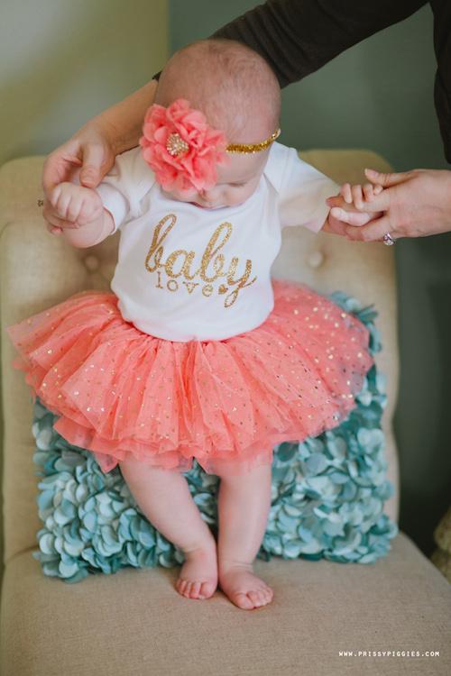 Baby Love Glitter Onesie