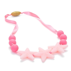 Juniorbeads Broadway Glow in the Dark Necklace - Bubble Gum