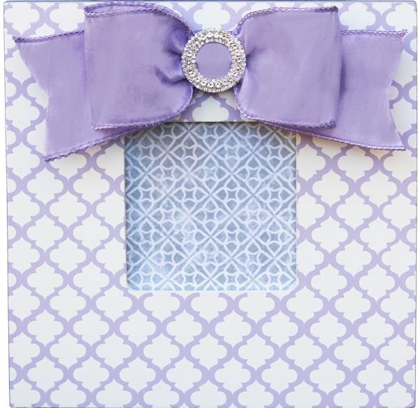Lavender Trellis Embellished Frame
