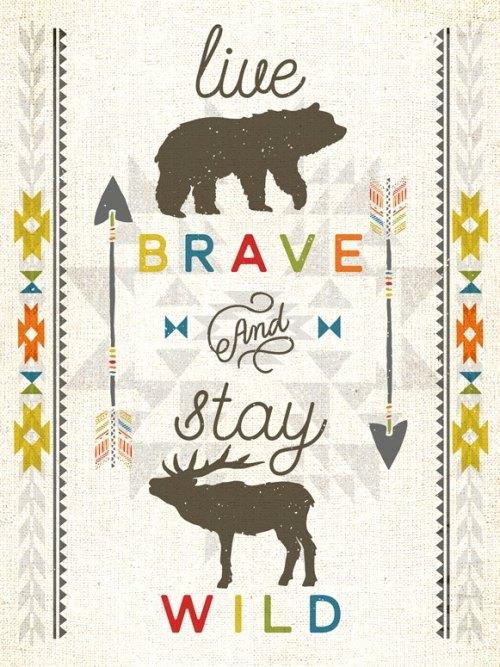 Live Brave Canvas