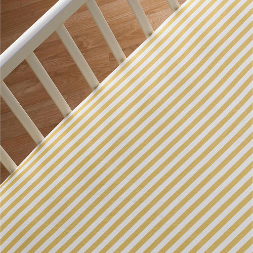 Lolli Living Fitted Crib Sheet - Amber Stripe