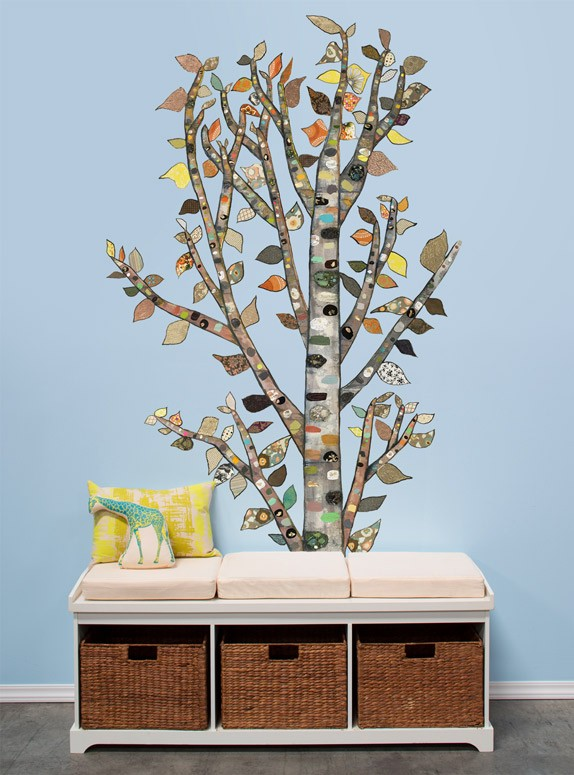 Lone Birch Peel & Place Wall Decal