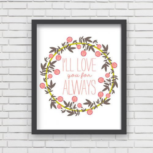 Lucy Darling I'll Love You Floral Art Print
