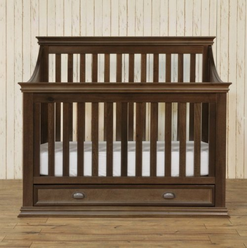 Franklin & Ben Mason 4 in 1 Crib - Rustic Brown