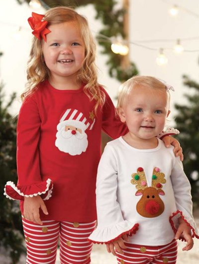 Mud Pie Tunic - Santa or Reindeer