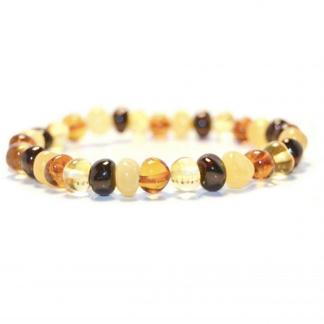 Adult Amber Bracelet - Baroque Multi