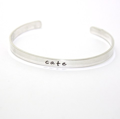 Customizable Sterling Silver Name Cuff Bracelet