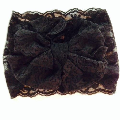 Boutique Lace Bow Wrap - Black