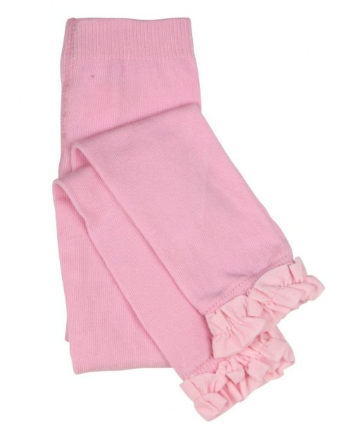 RuffleButts Ruffle Tights - Light Pink