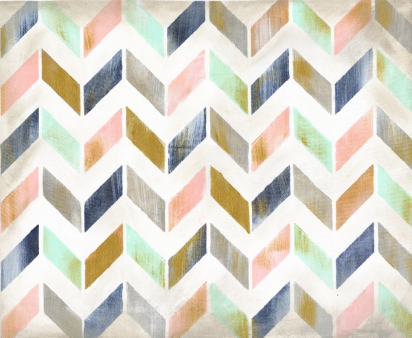 Chevron Abstract Canvas