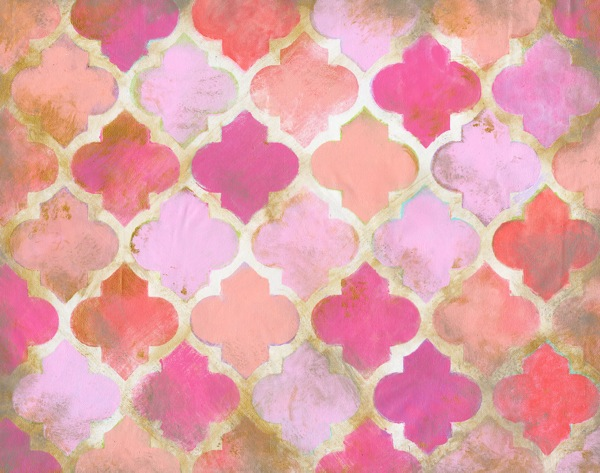 Pink Moroccan Abstract Canvas