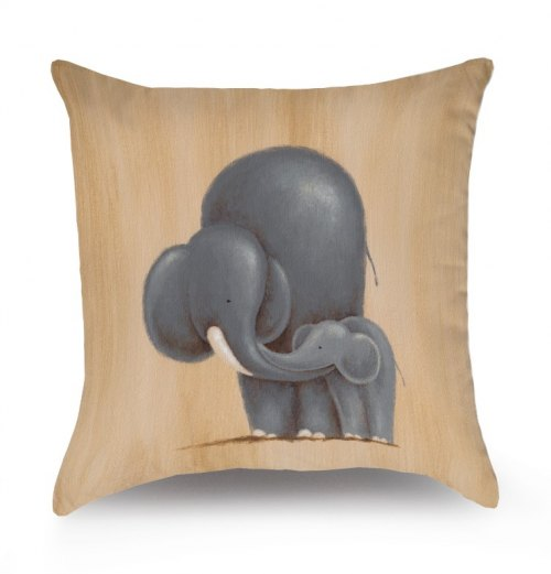 Reversible Throw Pillow - Safari Kisses