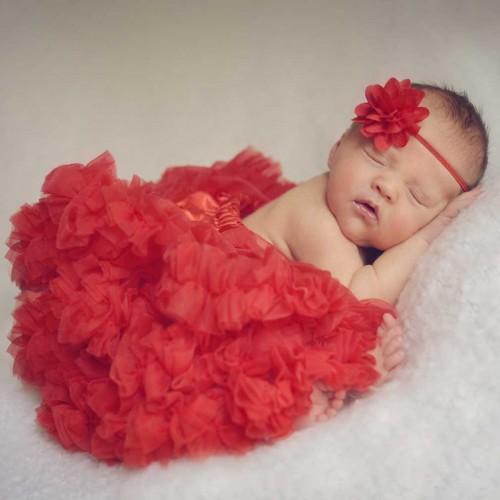 Huggalugs Scarlett Red Newborn Pettiskirt