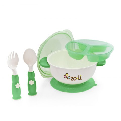 Zoli Stuck Suction Feeding Set - Green
