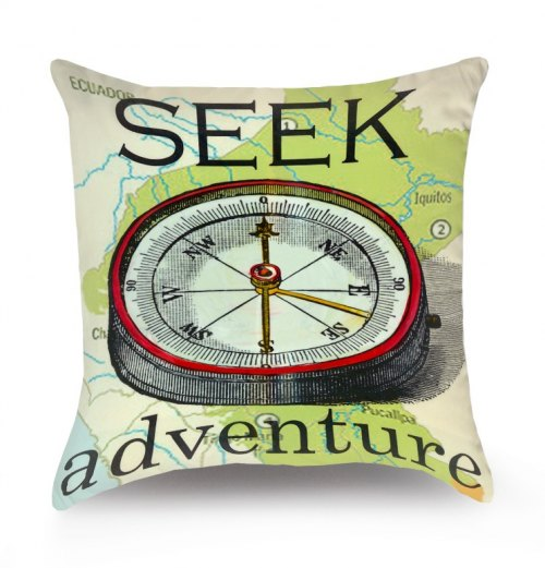 Reversible Throw Pillow - Adventure