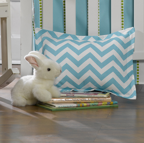 Liz and Roo Baby Pillow - Tiffany Blue Chevron