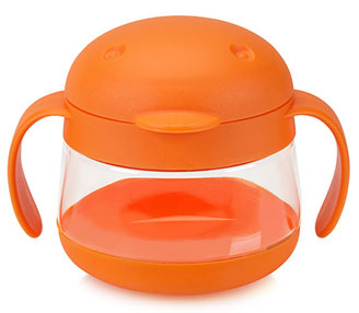 Ubbi Tweat Snack Container - Orange