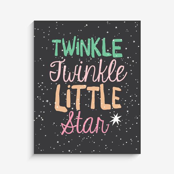 Lucy Darling Twinkle Twinkle Art Print - Girl