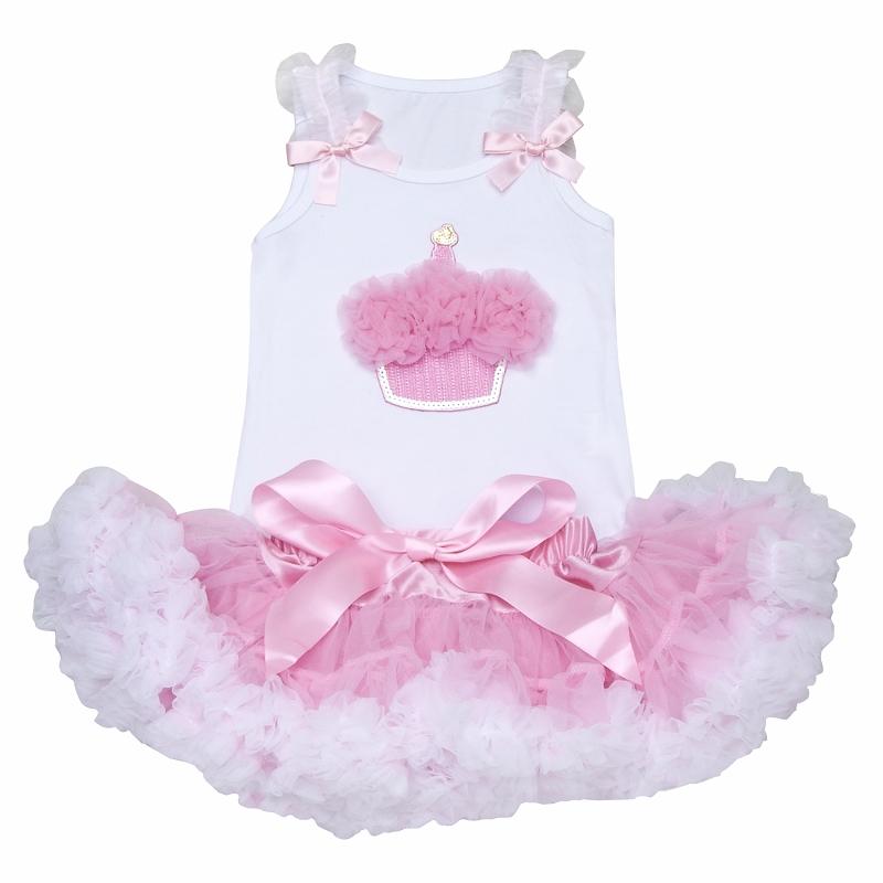 Pretty Pink Cupcake Tutu Set