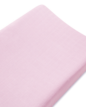 Bamboo Changing Pad Cover - Solid Pink