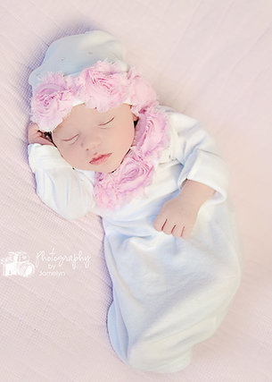 Sweet baby girl gown hat