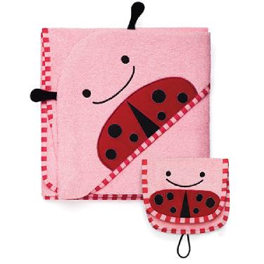 Hooded Towel & Mitt Set - Ladybug