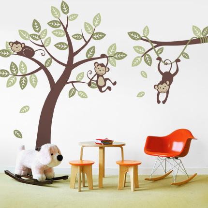 Three Monkey Tree & Branch Vine