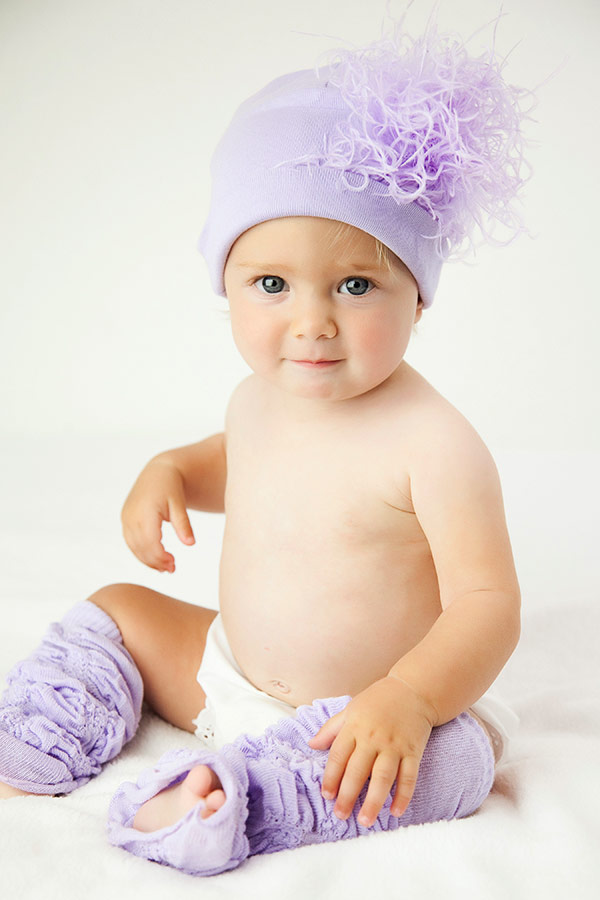 Lavender Hat with Lavender Curly Maribou