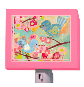 Cherry Blossom Birdies Night Light