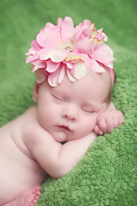 Candy Pink Peony Flowerette Burst Headband