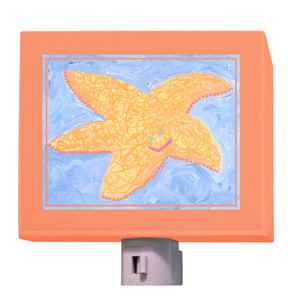 Orange Starfish Night Light