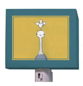 Ostrich and Baby Bird Night Light