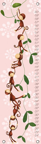 Pink Monkeying Around Growth Chart