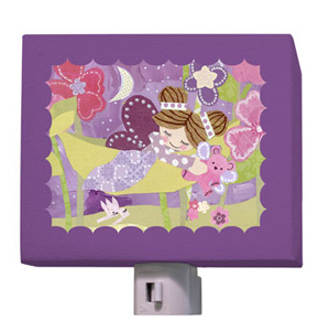 Slumbering Fairy Brunette Night Light