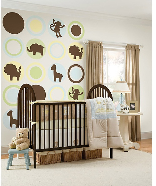 WallPops Jungle Silhouettes- Espresso Brown