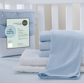 Crib Bedding Starter Kit - Blue