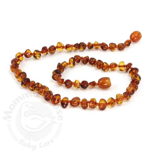 Amber Teething Necklace - Baroque Cognac
