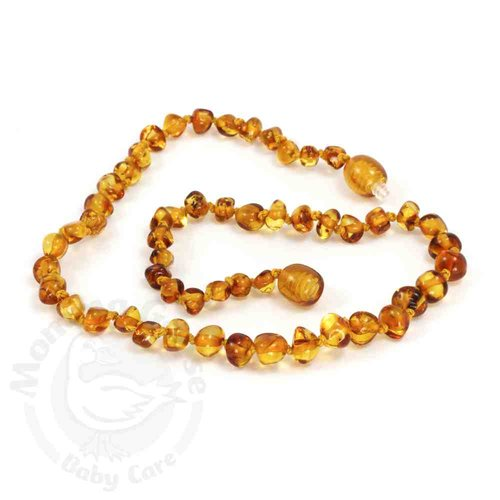 Amber Teething Necklace - Baroque Honey
