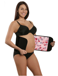 Belly Bandit -Couture Black Hearts Pink