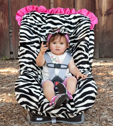 Zoe Zebra Toddler Car Seat Cover