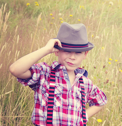 Born to Love Fedora Kids Hat - Grey