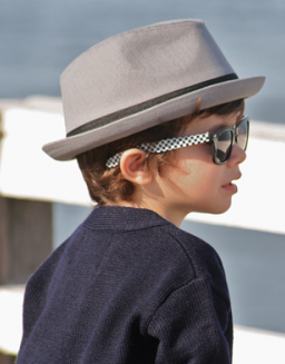 Born to Love Fedora  - Grey w/ Black Band