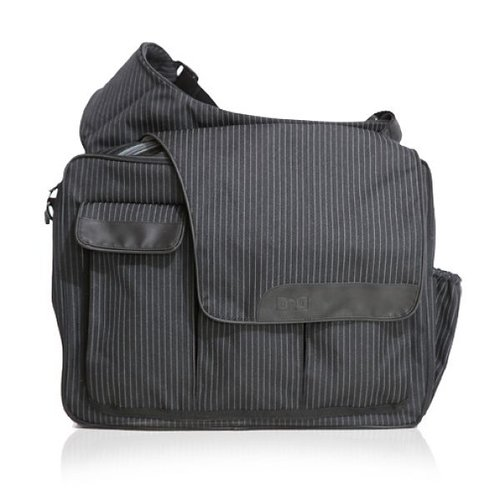 Diaper Dude Messenger II Black Pinstripe