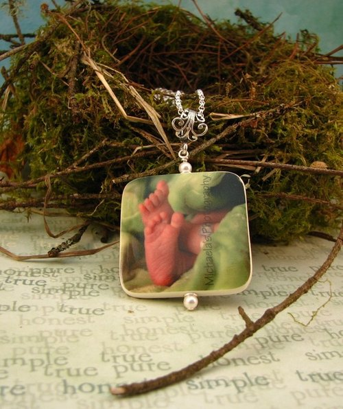 Keepsake Necklace w/ Custom Photo Pendant