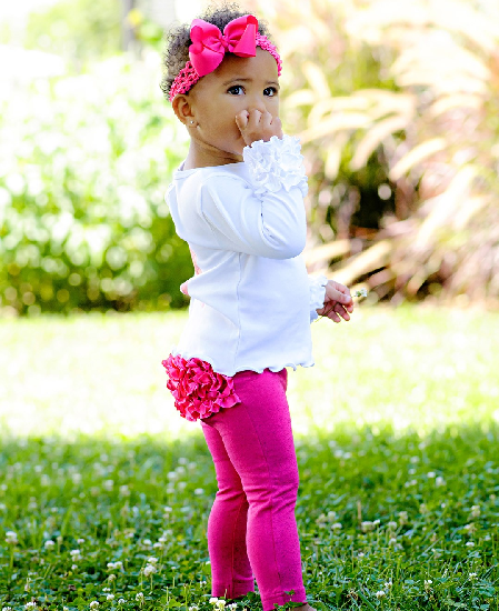 Fuchsia Sparkle Stretch Pants