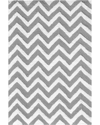 Chevron Rug - Grey