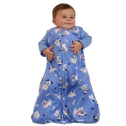 Halo Micro Fleece SleepSack Wearable Blanket- Blue Pup Pal