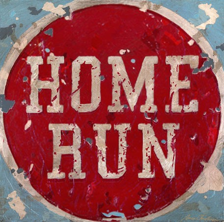 Vintage Home Run Canvas